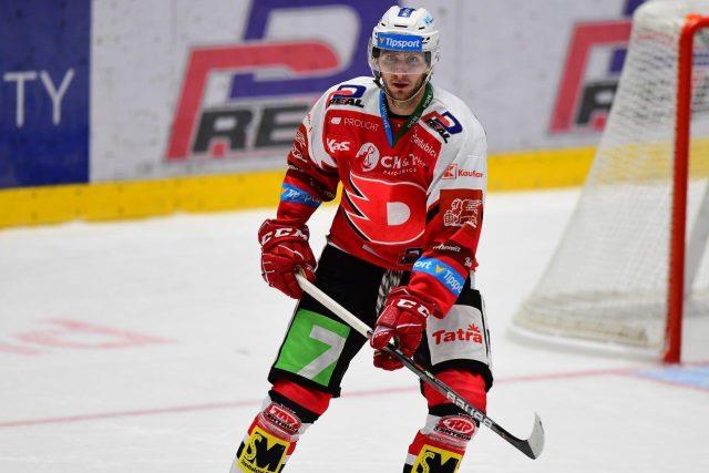 Pardubický hokejový obránce Juraj Mikúš | foto: Ladislav Adámek,  HC Dynamo Pardubice