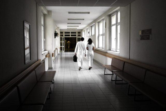 Chodba k emergency Pardubické nemocnice