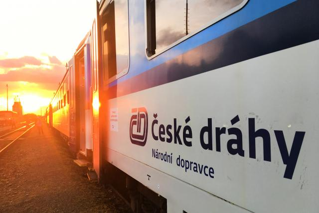 Vlak Českých drah.