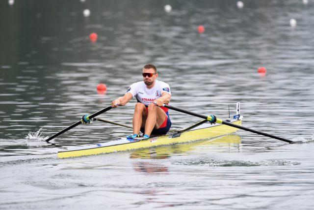 Skifař Ondřej Synek na mistrovství světa v Ottensheimu