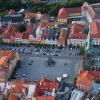 Historické centrum Chrudimi letecky